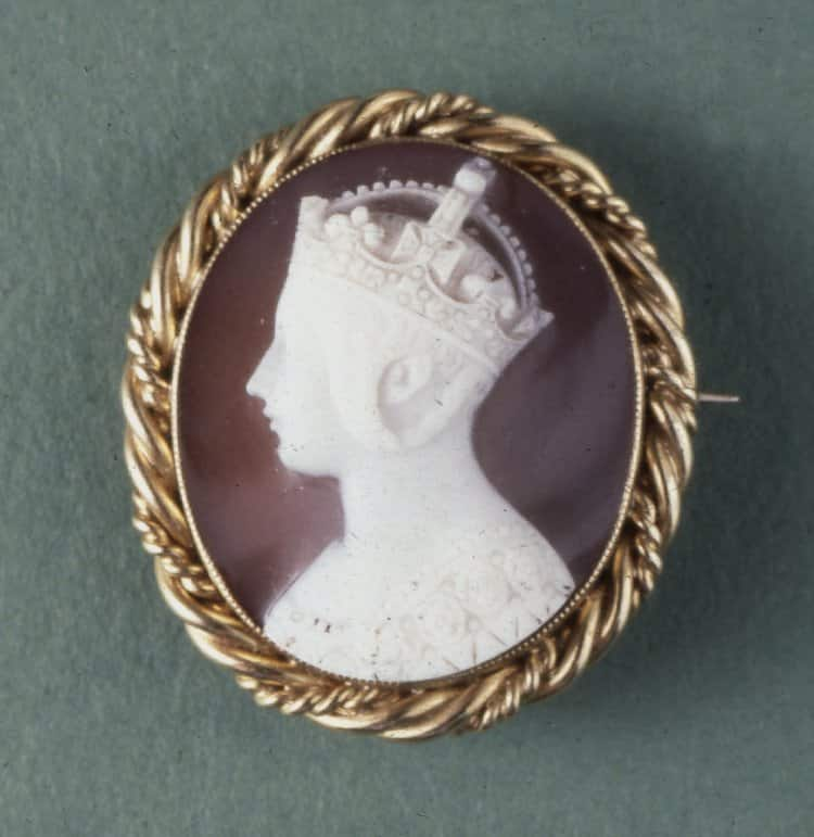 Portrait of Queen Victoria c.1855, Sardonyx. © Trustees of the British Museum.