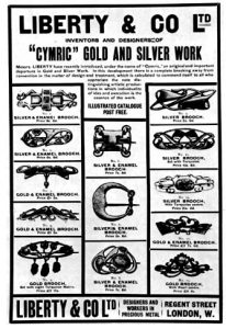 Advertisement for Cymric Jewelry by Liberty & Co.