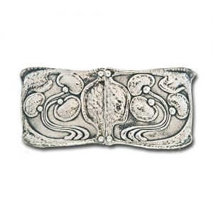 "Liberty & Co. ""Cymric"" Arts & Crafts Silver Buckle."