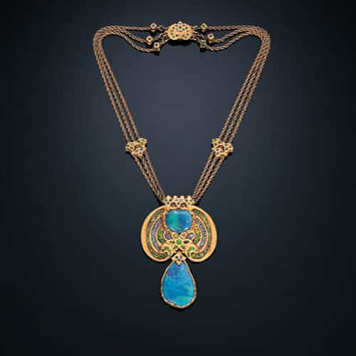 Louis Comfort Tiffany Opal Demantoid Necklace.jpg