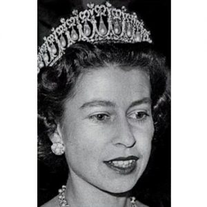 A Young Queen Elizabeth II Wearing the Lover's Knot Tiara.