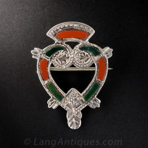 "Silver & Agate ""Luckenbooth"" Brooch."