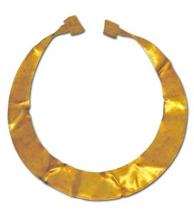Gold Lunula Necklace, Bronze Age.