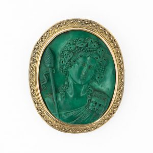 Dionysus Rendered in Malachite.