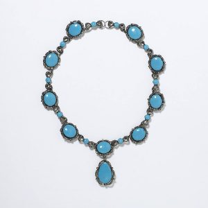 Enamel, Marcasite and Silver Necklace c. 1730.
