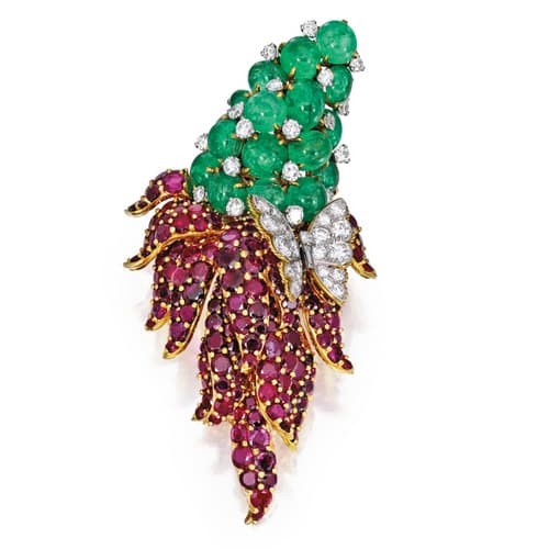 Marchak Paris Emerald Ruby Brooch.jpg
