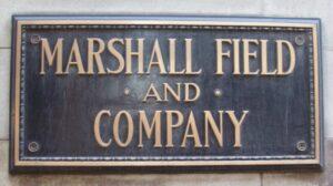 Marshall Field's Brass Plaque