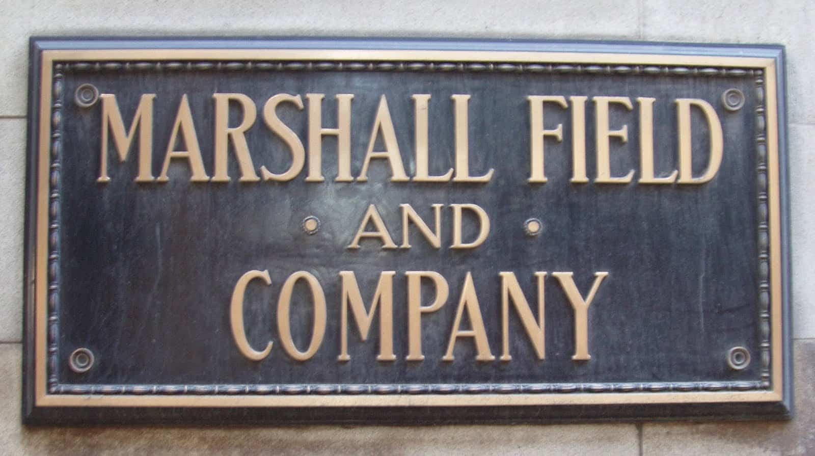 Marshall Field's Brass Plaque