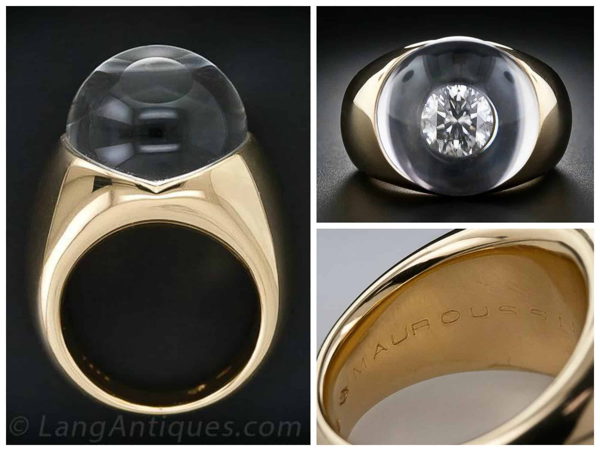 Mauboussin Crystal and Diamond Illusion Ring.