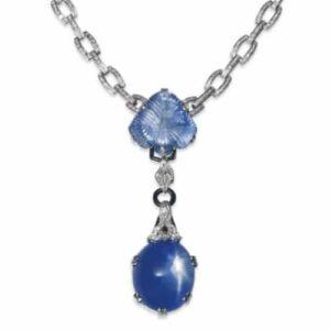 Mauboussin Art Deco Star Sapphire, Diamond and Black Onyx Necklace, circa 1926. Photo Courtesy of Christie's.