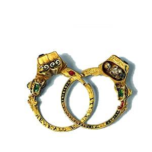 Memento Mori Gimmel Ring.