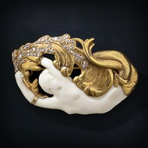 Art Nouveau Mermaid Brooch.