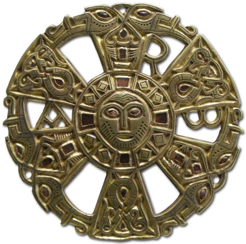 Merovingian Disk c.7th Century.