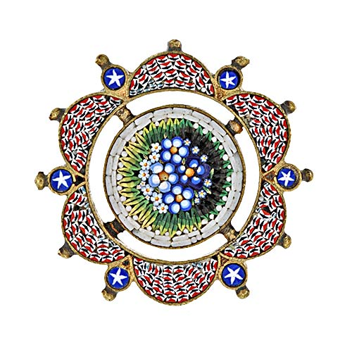 Micromosaic Forget Me Not Brooch.jpg
