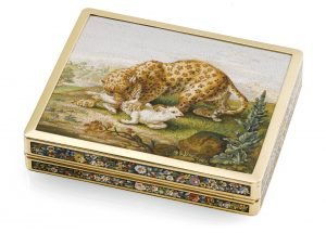 Reverse of Micromosaic Snuff Box. Photo Courtesy of Sotheby's.