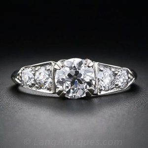 1940s-50s Vintage Diamond Engagement Ring.