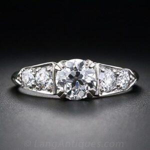 1940s-50s Vintage Diamond Engagement Ring.
