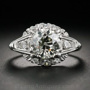 Mid-Century Diamond Engagement Ring. ©
