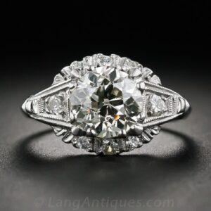 Mid-Century Diamond Engagement Ring. ©