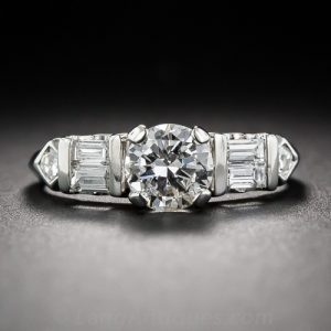1940s-50s Diamond Engagement Ring.