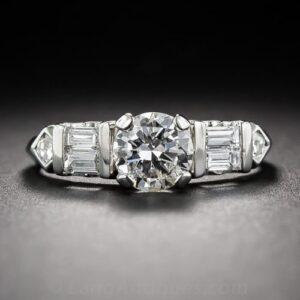 1940s-50s Diamond Engagement Ring.