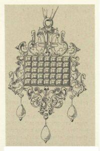 Pendant Design by Daniel Mignot, Late Renaissance.