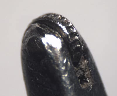 Close-Up of a Millegrain Tool's Tip which will Produce Spherical Milligrains.