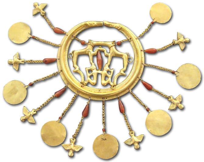 Large Minoan Golden Earring