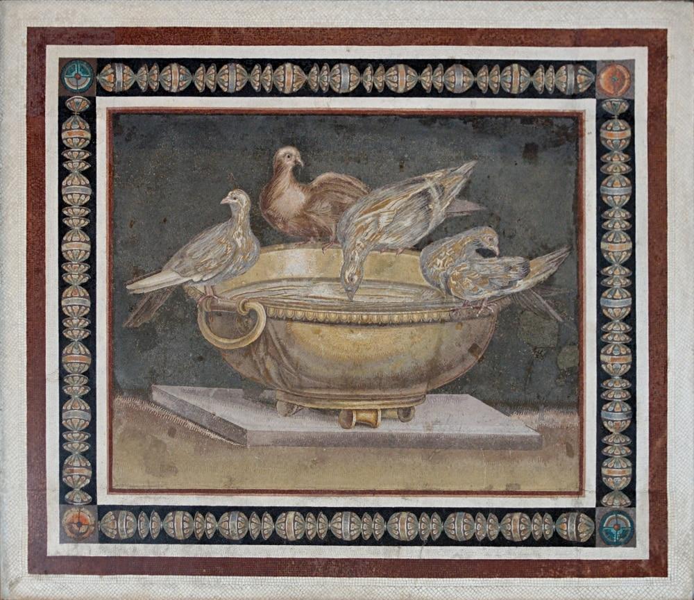 Roman Mosaic Copy of Pliny's Doves.