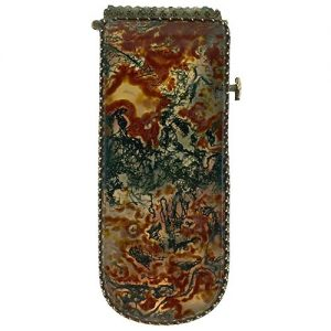 Early 20th Century Moss Agate Match Safe.