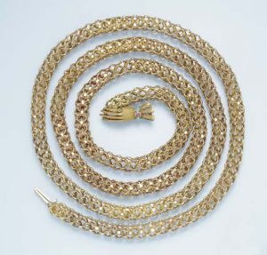 Antique Yellow Gold Fancy Link Muff Chain. Photo Courtesy of Christie's.