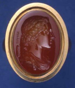 Laureate Head of a Youth, Intaglio, c.1726-1775, Sard. © Trustees of the British Museum.