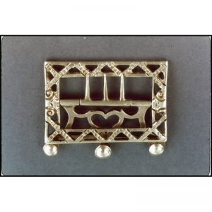 Gentleman's Neck Stock Buckle c. 1760.