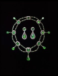 Emerald and Diamond Necklace Attributed to Nitot. c.1806.