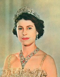 Queen Elizabeth II Wearing the Nizam of Hyderabad Tiar