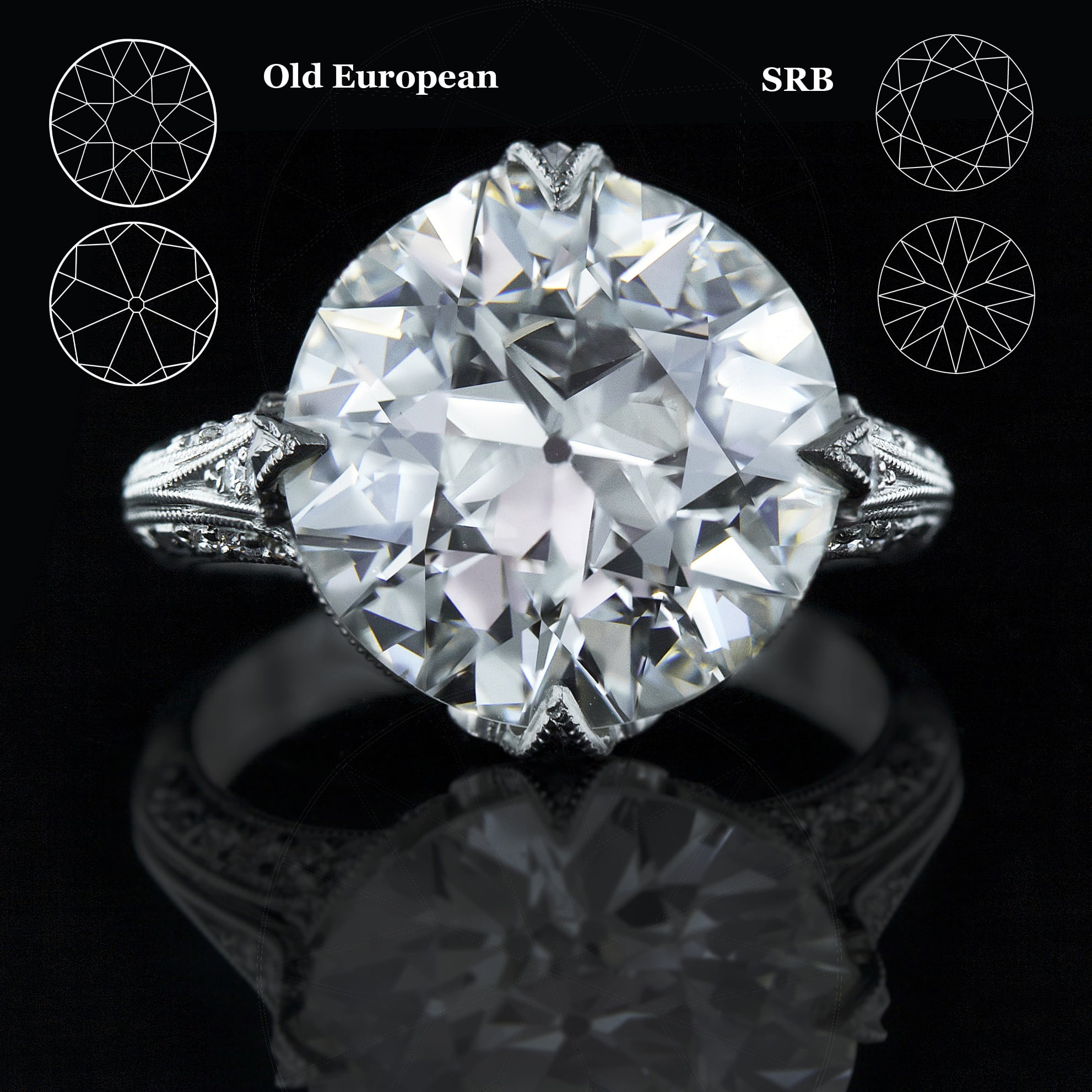 cut graff brilliant a tapered with diamond collections ring round baguette stones engagement setting promise by side