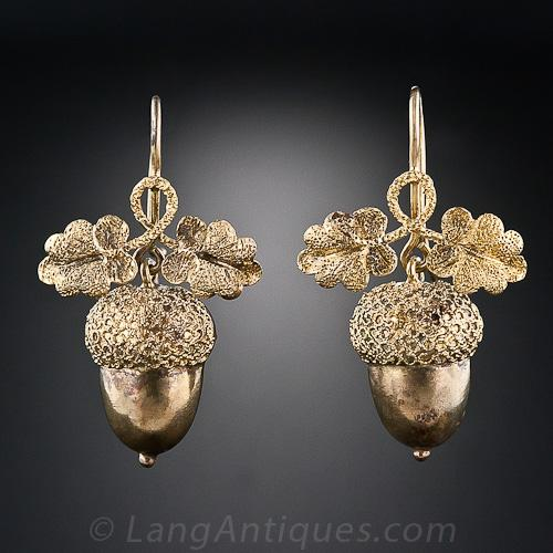 Oak Leaf Acorn Earrings.Jpg