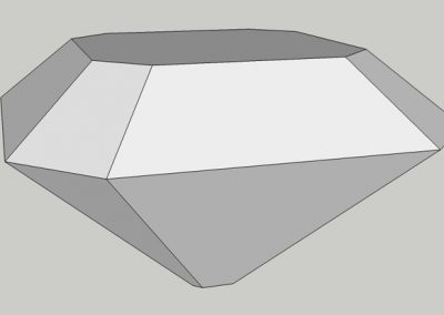 An Old Single Cut; a Square Table Cut with Faceted Corners.