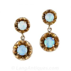 Antique Opal Earrings.