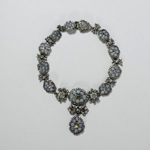 Opaline Paste and Silver Necklace c.1760.