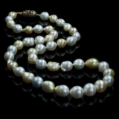 Opera Length Pearl Necklace, 28 Inches.
