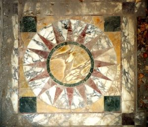 Opus Sectile (Marble Floor Inlay) from the Hadrian's Villa (Piccole Terme) Near Tivoli in Italy.