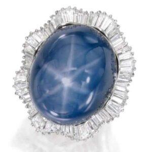 Oscar Heyman & Bros. Star Sapphire and Diamond Ballerina Ring. Photo Courtesy of Sotheby's.