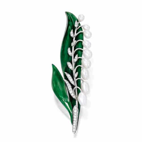 Oscar Heyman Lilly of the Valley Brooch.