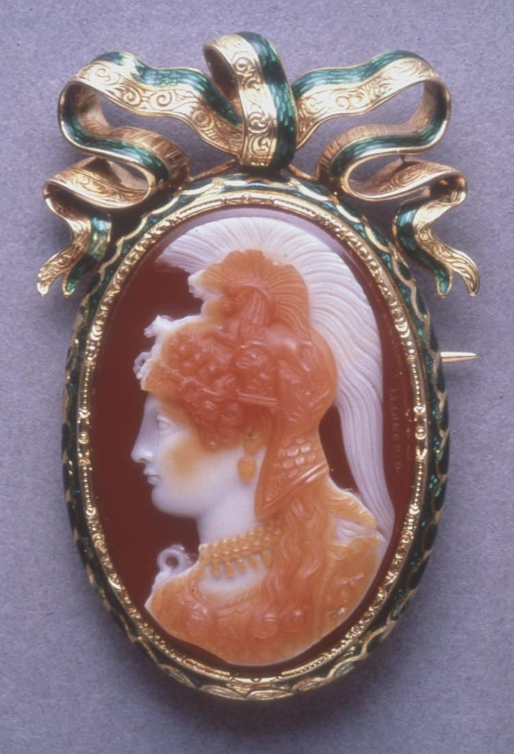 The Minerva of Aspasios (Styled after an engraved gem by a Greek artist, Aspasios.) © Trustees of the British Museum.