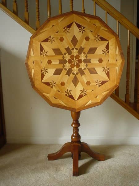 Example of Parquetry on a Tilt Table.
