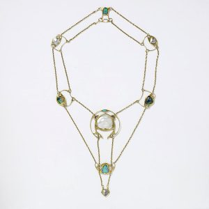 Pearl and Opal Necklace, Knox c.1902.
