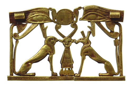 Egyptian Pectoral Ornament Depicting Horus and Seth, c. 12th Dynasty. Photo Courtesy of the Myers Museum, Et