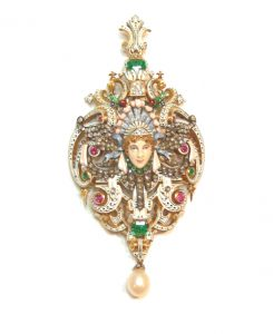 Pendant Attributed to Emile Froment-Meurice.