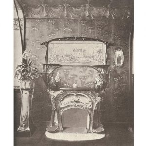 Fireplace and Overmantel, Designed by M. Hector Guimard.